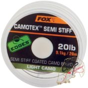 Поводковый материал в оплетке средней жесткости Fox Edges Camotex Semi Stiff — Light Camo 20lb — 20m