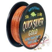 Поводковый материал Kryston Quick Silver Gold 25lb