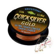 Поводковый материал Kryston Quick Silver Gold 35lb