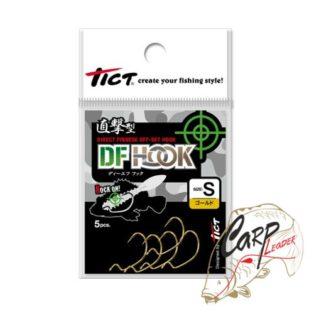Крючки офсетные Tict DF Hook S-Gold 5