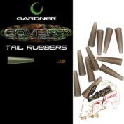 Конуса для безопасных клипс Gardner Covert Tail Rubbers Black/Silt 12шт.