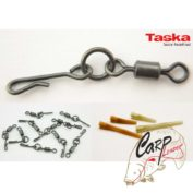 Набор вертлюгов с быстросъемом и отводчиками Taska Kwick LinQ Flexi Ring Swivels and Sleeves — Size