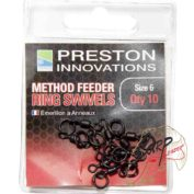 Вертлюжок для кормушки Preston Innovations Preston Method Feeder Ring Swivels Size 6