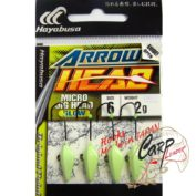 Джиг-головка Hayabusa EX931 6-2 гр. 4 черный никель ультрафиолетовое покрытие