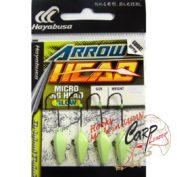 Джиг-головка Hayabusa EX931 8-1 гр. 4 черный никель ультрафиолетовое покрытие