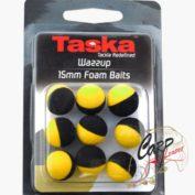 Плавающая искуственная насадка Taska Wazzup Foam Balls YellowBlack 15mm
