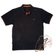 Polo Shirt Black/Orange — Large поло