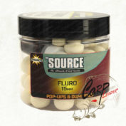 Бойлы плав.Dynamite Baits 15мм Source White Fluro Pop Ups and dumbells