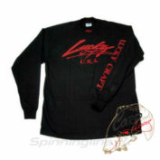 Футболка Lucky Craft Classic Turtle Neck Shirt Black Red