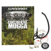 Крючки карповые Gardner Covert Dark Continental Mugga Hook Sizes 6
