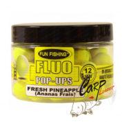 Бойлы плавающие Fun Fishing Fluo Pop Ups -12mm - 60pcs - Jaune-Ananas Frais