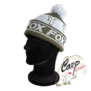 Шапка Fox Green & Silver Lined Bobble